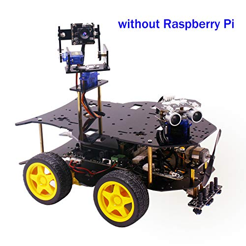 Yahboom Robot Kit for Raspberry Pi 4B / 3B + with HD Camera, Programmable Smart Robotice Truck with 4WD, Electronics Education DIY Set for Teens (Raspberry Pi not Include)