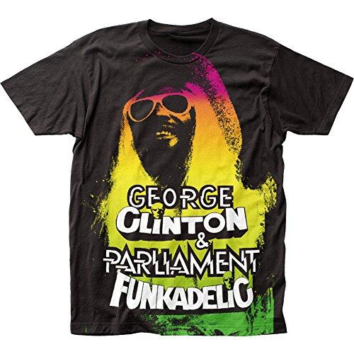 Impact Funkadelic George Clinton Big Print Subway tee (Large) Black
