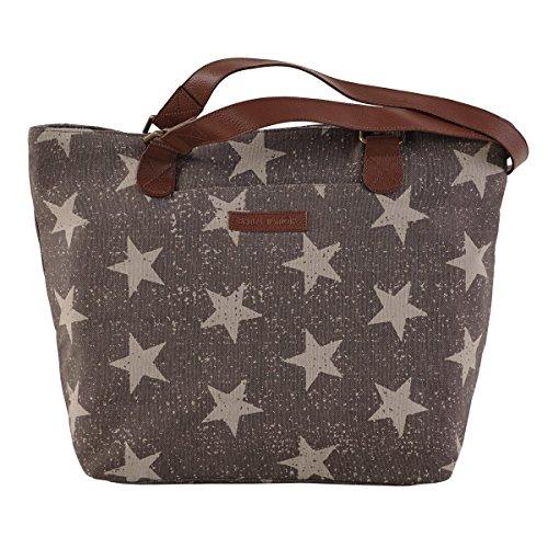 bella-taylor-star-strap-slip-zip-pockets-grey-canvas-shoulder-cotton-tote-h-11-base-w-11-x-d-5-inche