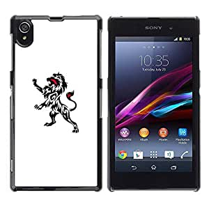 Paccase / SLIM PC / Aliminium Casa Carcasa Funda Case Cover - Ink Decal Art Clean White Black Minimalist - Sony Xperia Z1 L39 C6902 C6903 C6906 C6916 C6943