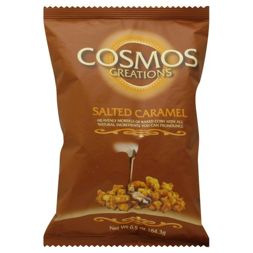 Premium Puffed Corn - Salted Caramel Popcorn Without Hulls - Gluten-Free Snack - 6.5 Ounces Each Bag (Pack of 2)