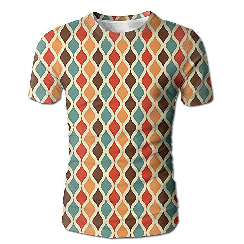 Edgar John Funk Different Vintage Pattern Composition with Geometric Forms Simplistic Men's Short Sleeve Tshirt L]()