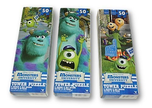 (Monsters University 50 Piece Tower Puzzle Pack - Set of 3)