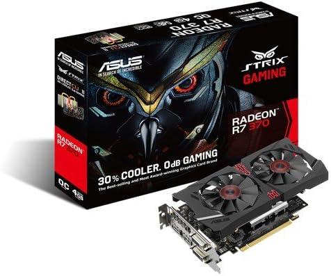 ASUS STRIX Radeon R7 370 Overclocked 2 GB DDR5 256-bit DisplayPort HDMI 1.4a DVI-D DVI-I Gaming Graphics Card