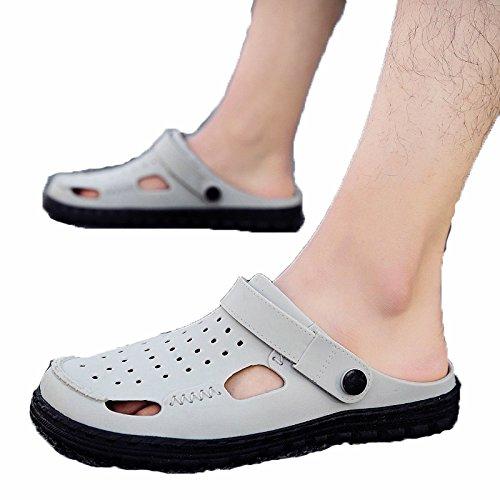 sandali uomo grigio scarpe mezze bucate da scarpe spiaggia e WLG Sandali da 40 estivi ciabatte pantofole qzxtn6Yn