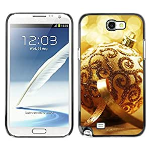 YOYO Slim PC / Aluminium Case Cover Armor Shell Portection //Christmas Holiday Gold Decoration Ball 1167 //Samsung Note 2