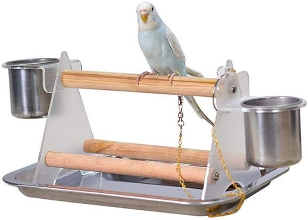 1 juego de escalera para loros, soporte para perca de loro y molinillo de pájaros de goma, juguetes divertidos, triángulo de acrílico, suministros para mascotas: Amazon.es: Hogar