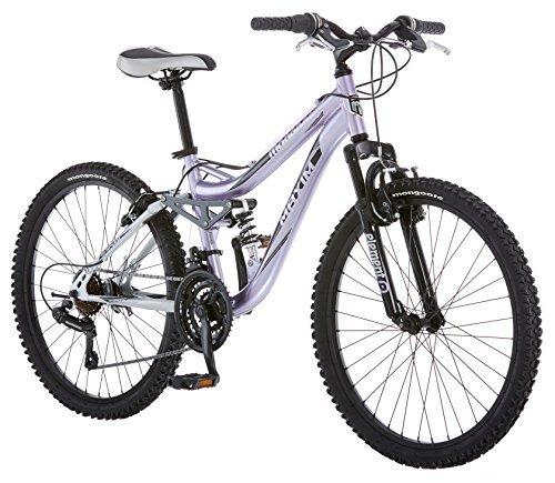 Mongoose Girl's Maxim Full Suspension Bicycle (24-Inch) [並行輸入品] B07BVBBKTT