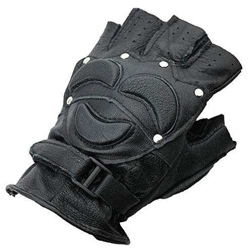 Faux Suede Buckskin - JQZLXBZST Men's Sports Protection Full Black Faux Suede Fighting Gloves (Iron Nail Type) Three Styles (Color : Nail Tank)