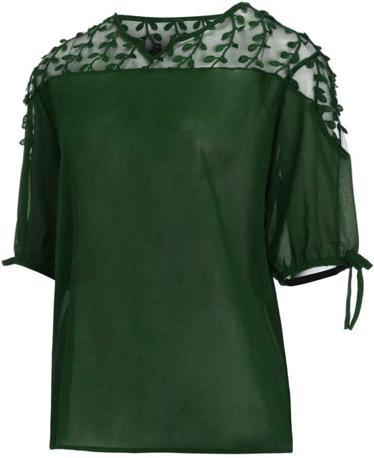 Costura Color de ContrasteTops Ronamick Hermoso Camisetas Mujer Verano Blusa Niña Manga Larga Hermoso Camisa Negra(Verde,XXL): Amazon.es: Iluminación