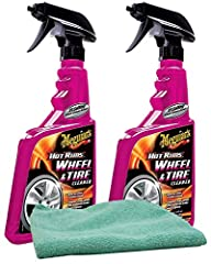 Bundle comes with 2 - Meguiar's G9524 Hot Rims Wheel & Tire Cleaner (24 oz.) - Designed to wash away filth with ease. Leaves behind not only clean wheels, but clean tire sidewalls as well. Safe for pure chrome metal wheels. Can be applied...