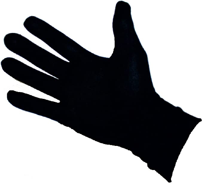 Thin Lycra Silk Liner Gloves Thermal Ski Inner Walking Cycling Motorbike BLACK
