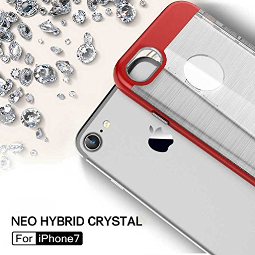 """4.7"""" iPhone 7 Coque, AOFad Case Concis Protection des lourds Mince blanc Plastique Hybride Accessoires Série Pour Femme Homme L198"""