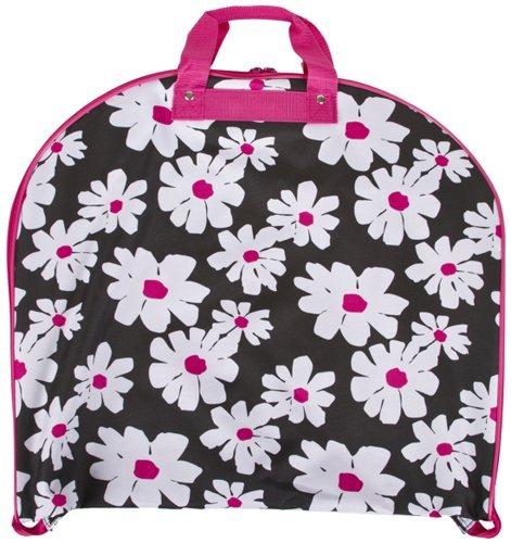 [Ever Moda Hanging Garment Bag, Pink Floral Print (40-inch)] (Dance Costumes Uniform)