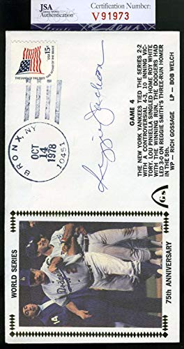 REGGIE JACKSON JSA Coa Autographed 1978 WS FDC Hand Signed Authentic
