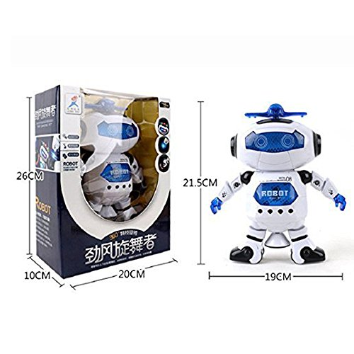 DORIC Dancing Smart Space Robot Astronaut Music Light Toy (Sounding Christmas Song Electronic)