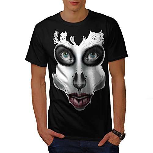 [Sugar Skull Make Up Beauty Face Men NEW S T-shirt | Wellcoda] (Sugar Skull Costume Tumblr)