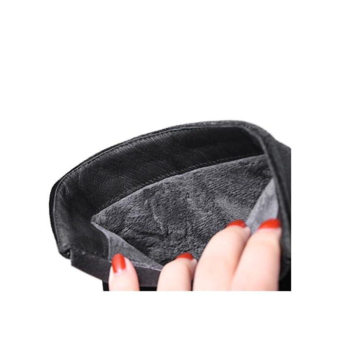 Donna Scarpe Da Ginnastica Tacchi Alti Paillettes Scamosciato Testa Rotonda Nero Autunno Inverno Lavoro Partito Black Eur 38 Uk 5 5