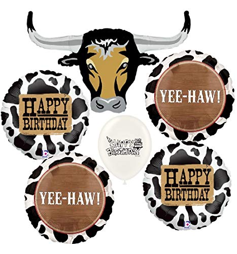 Ultimate Western Longhorn Birthday Party Event Bouquet of Balloons