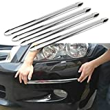 ATMOMO 4 Pcs Auto Car Body Bumper Guard Protector Sticker Anti-rub Bar Strip Car Bumper Strips