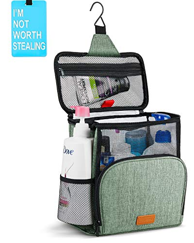 Hiverst Hanging Toiletry Bag, Shower Caddy Tote