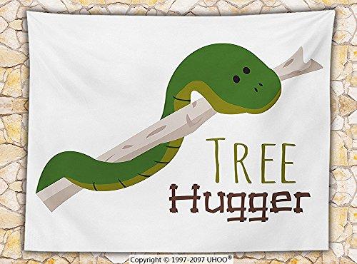 Reptile Decor Fleece Throw Blanket Cute Cartoon Snake Hanging from Tree Hugger Love Mascot Humor Reptiles Comic Home (Ravenclaw Mascot)