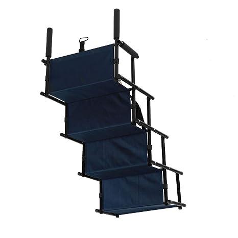 GOTOTOP Escaleras para mascotas plegables de 4 pasos, escaleras portátiles para gatos herramienta de escalada