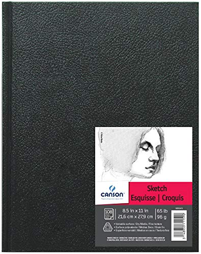 - Canson Artist Series Sketch Book Paper Pad, for Pencil and Charcoal, Acid Free, Hardbound, 65 Pound, 8.5 x 11 Inch, 108 Sheets
