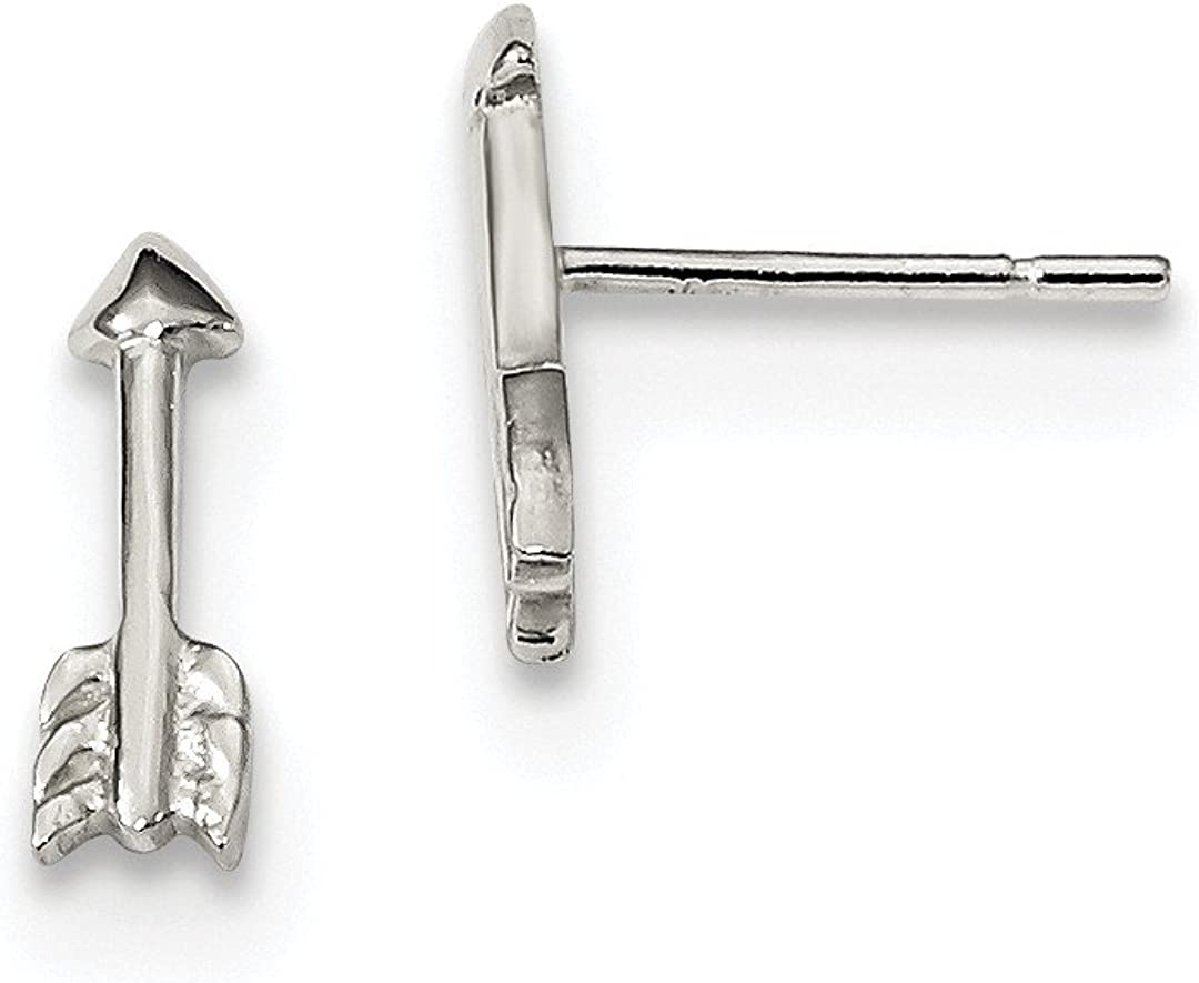 925 Sterling Silver Arrow Earrings