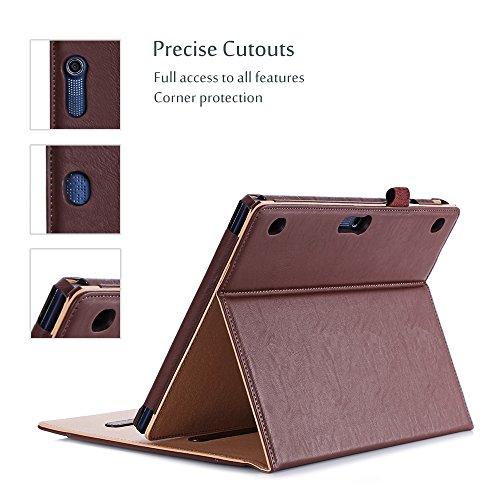 procase lenovo tab 2 a10 lenovo tab x103f tab 10 case leather stand folio case cover for. Black Bedroom Furniture Sets. Home Design Ideas