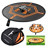 Hobbylane-Universal-Drone-Landing-Pad-RC-Quadcopter-Helicopter-Apron-Fast-fold-Helipad-for-Micro-Drone-Black