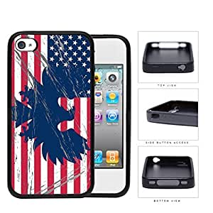 American Eagle Flag With Overspray Rubber Silicone TPU Cell Phone Case Apple iPhone 4 4s