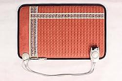 Back Rescue Amethyst Far Infrared Heating Pad, Fast Effective Pain Relief, no EMF, 1 Year Warranty, FDA, Half Body Size, Digital Control and Shut Off, 10 lbs Amethyst Stones, Carry Bag