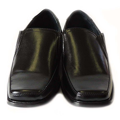 Classic Lined Delli Shoes Shoe Comfort HORN M16066 Slip BLACK Aldo Free Mens Loafers Dress New Leather On qqBzx8r