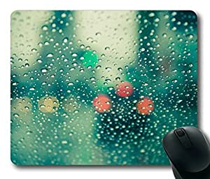 Rain Drops On Glass Rectangle mouse pad Your Perfect Choice