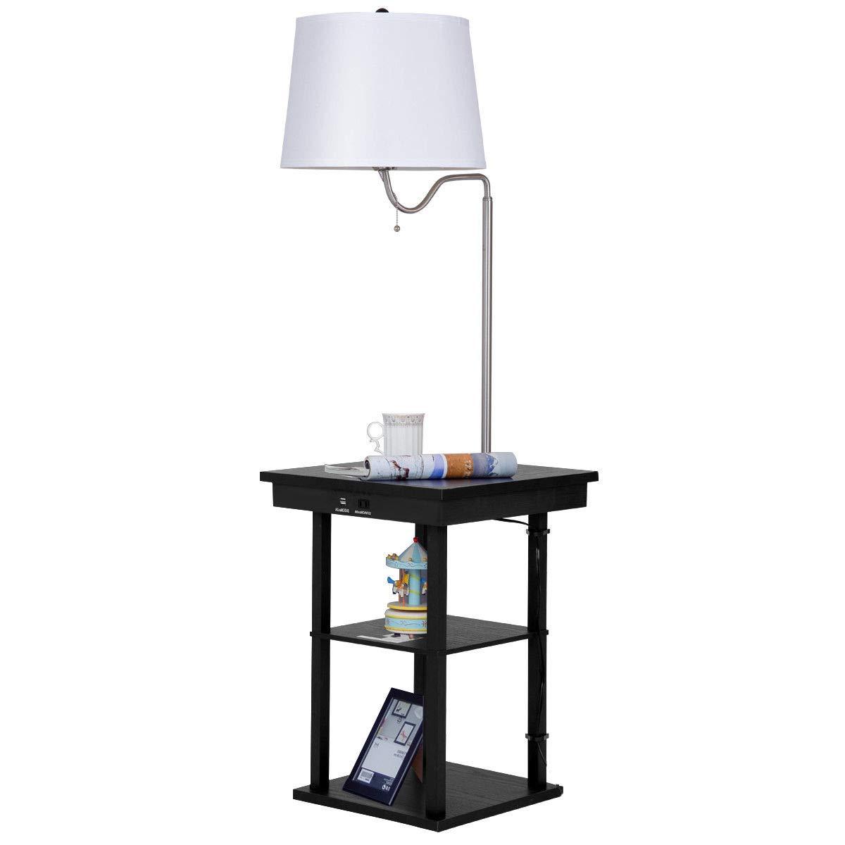 Amazon Com Thaisan7 Floor Lamp Swing Arm Lamp Built In End