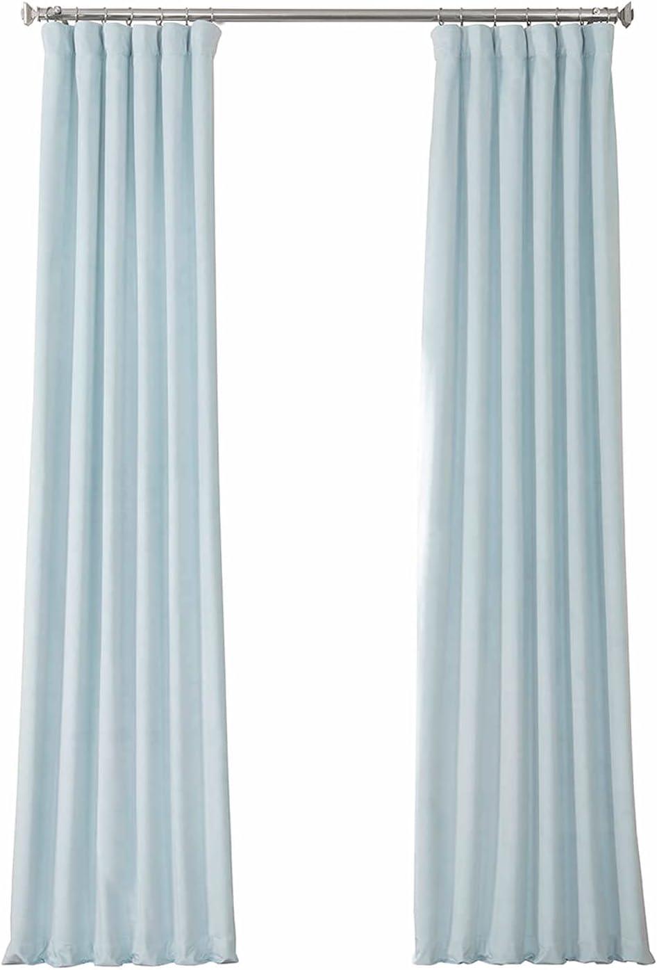 HPD Half outlet Price Drapes VPYC Heritage mart Velvet 1 Pane Curtain Plush