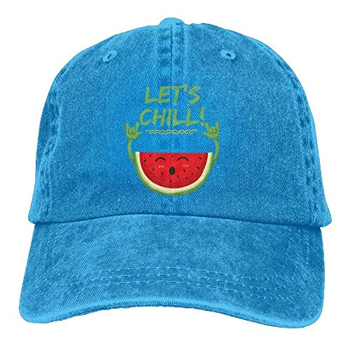 Cute Let's béisbol Gorras Como Caps Chill Tu Watermelon Women's Soy Adjustable Denim Hat No Baseball Xxw4Inaq