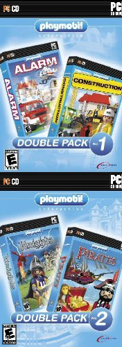 Playmobil 4 Pack! Alarm + Construction & Knights + Pirates Playmobil Dream Castle