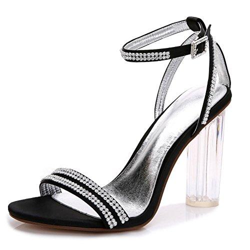 YC Cristal Hauts F2615 Mariage 5 avec Ouvert Chaussures Balle Femmes De black SynthéTiques Talons Orteil Pour L dxnqpOCw8d