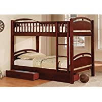 HOMES: Inside + Out ioHOMES Antrim Bunk Bed with Drawers, Twin, Cherry