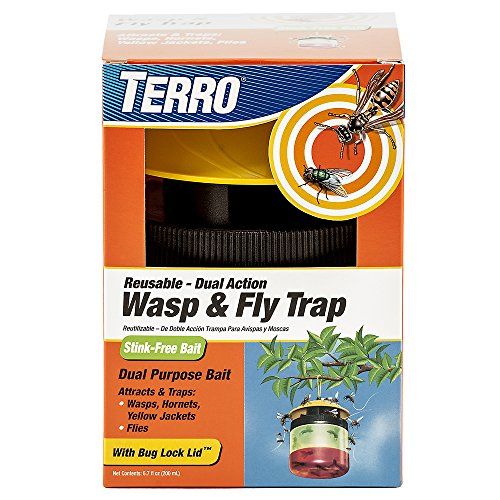 - Terro T512 Wasp and Fly Reusable Trap, 1 Pack