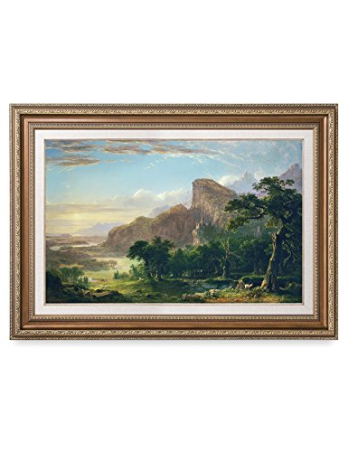 DecorArts - Landscape-Scene from Thanatopsis, Asher Brown Durand Classic Art Reproductions. Giclee Prints& Museum Quality Framed Art for Wall Decor. Framed size: 35x25