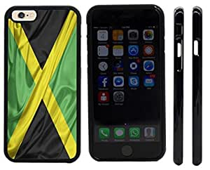 Rikki KnightTM Jamaica Flag Design iPhone 6 Case Cover (Black Rubber with front bumper protection) for Apple iPhone 6