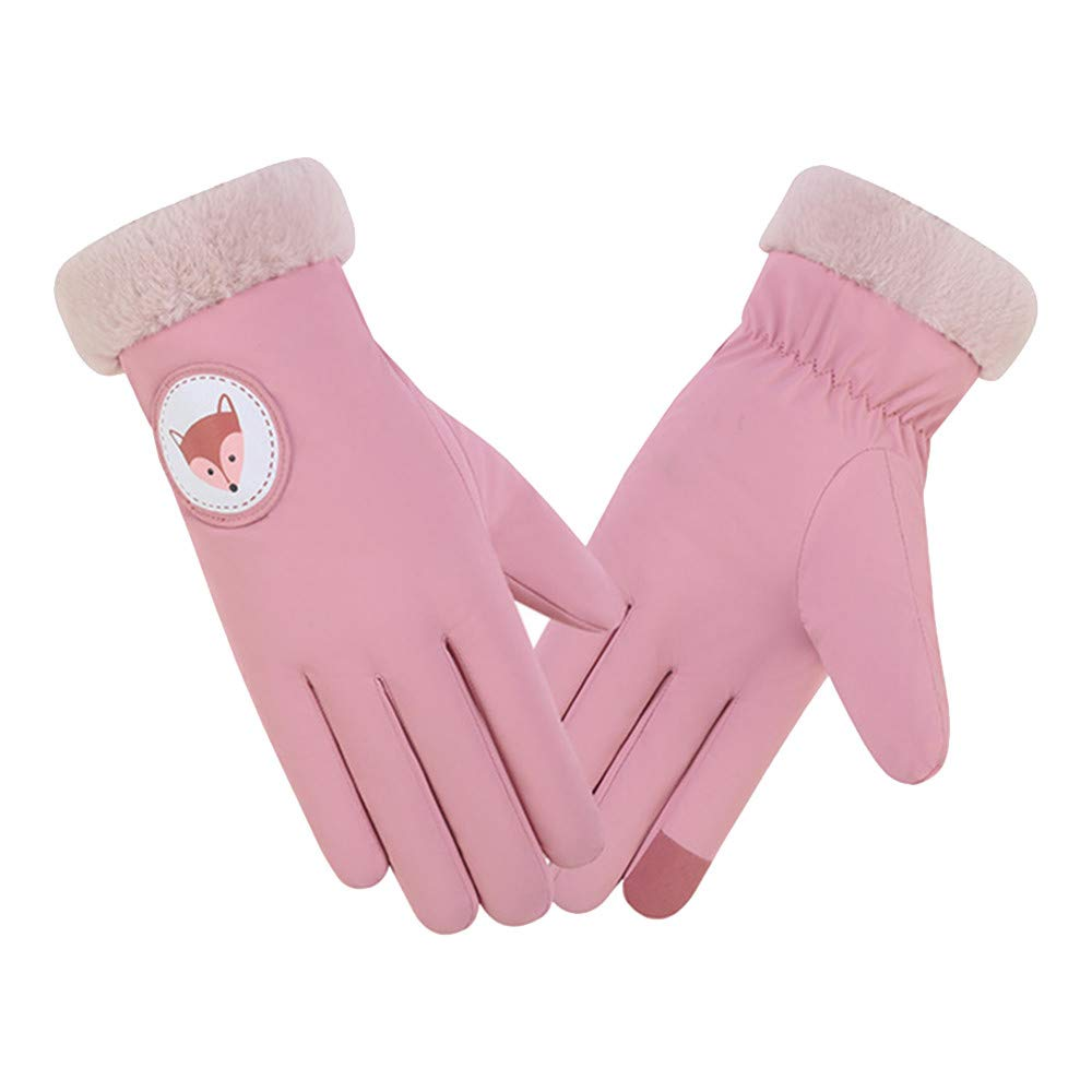 NUWFOR Women Winter Wrist Arm Warmer Solid Knitted Long Fingerless Gloves Mitten ?Pink,Free?