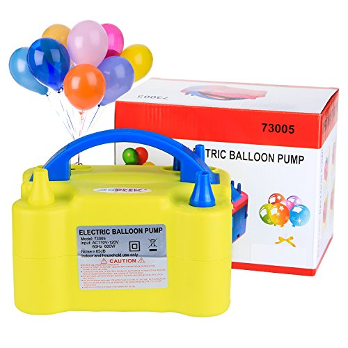 Electric Air Balloon Pump, AGPtEK Portable Dual Nozzle Inflator/Blower for Party Decoration - -