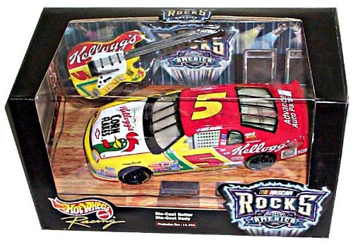 Hot Wheels Racing - NASCAR Rocks America - Kelloggs Racing/Terry Labonte - Chevrolet Monte Carlo #5 - 1:24 Scale Collector Stock Car Replica w/DieCast Guitar Replica. Limited Edition (1 of 15,000)