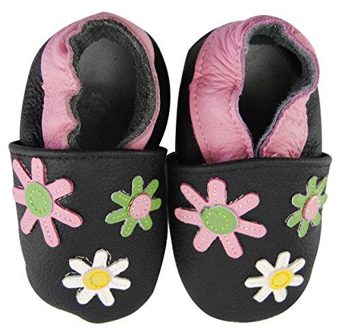 axy Baby Lederschuhe Lauflernschuhe Krabbelschuhe Babyschuhe Kindergartenschuhe - Blumen