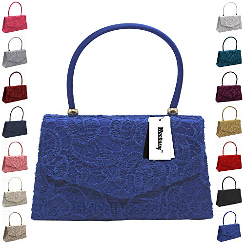 Lace Clutch Bag Designer Prom Handle Satin Fashion Clutch Bag Party Evening green Wedding Handbag Blue Vintage Womens Wocharm Girly HandBags Top Handbag qxBqt0