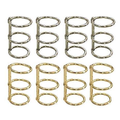Amazon.com: Grekywin - 8 anillos de metal para cuaderno de ...